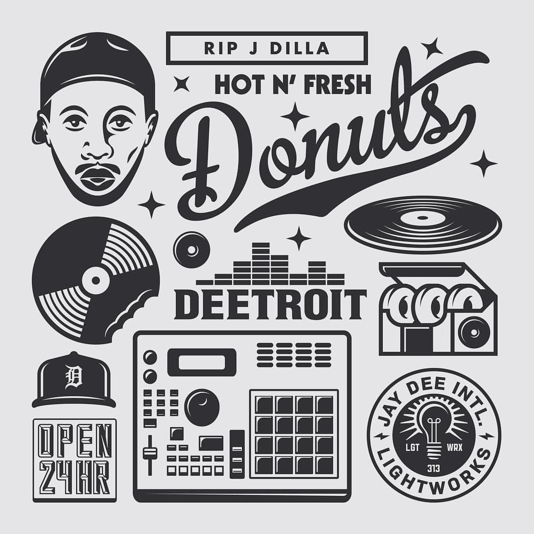 J. Dilla Tribute Design Sheet by Goodcuff