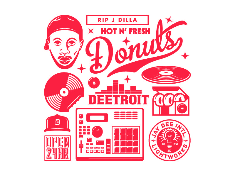 J Dilla Donuts Tribute Design Poster By Goodcuff