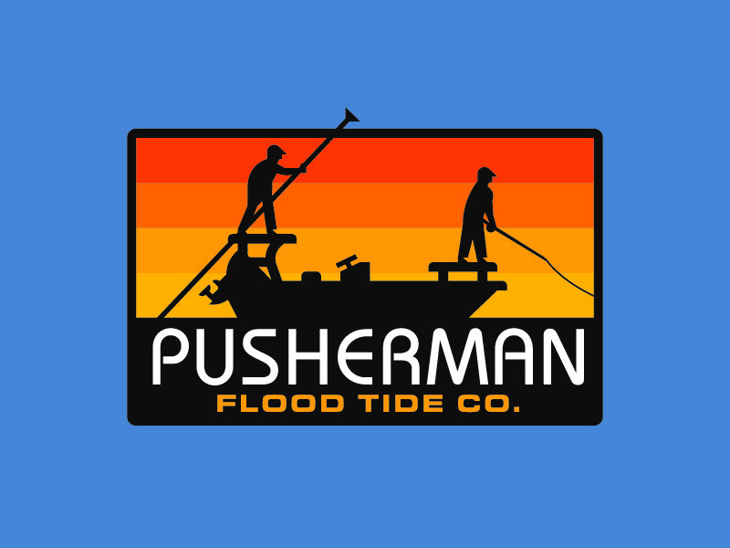 Pusherman Logo Mark for Flood Tide Company by Design Cypher