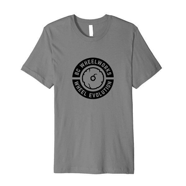 BC Wheelworks - Wheel Evolution Tshirt in Dark Heather Grey