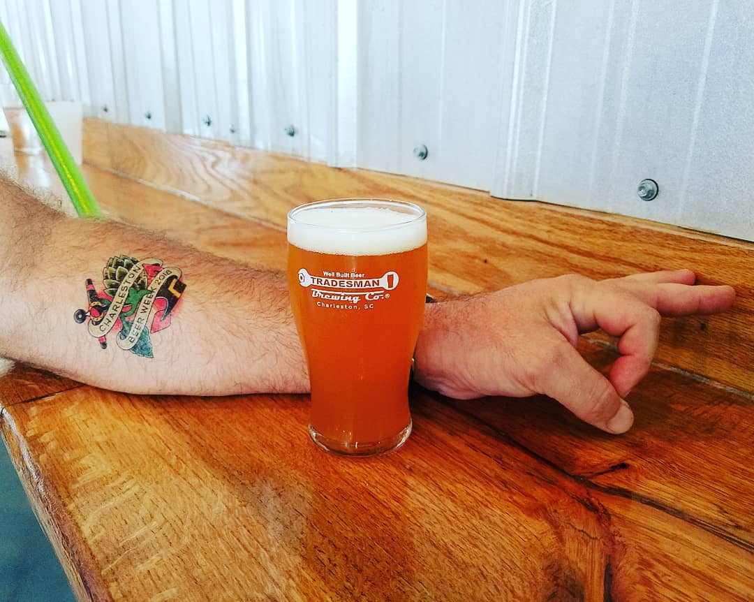 Tradesman Brewing Company Made You Look with CHS Beer Week Temporary Tattoo