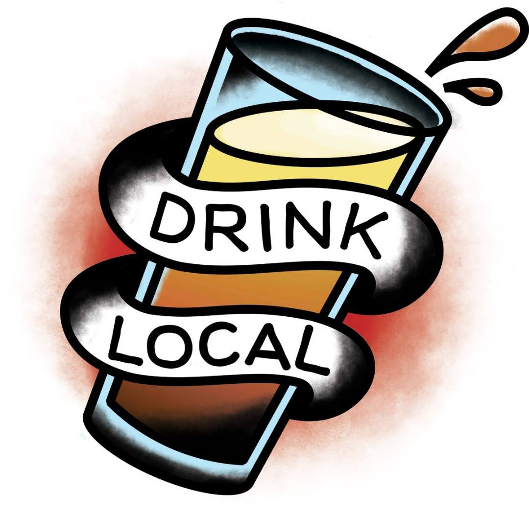 """CHS Beer Week Temporary Tattoo - """"Drink Local"""""""