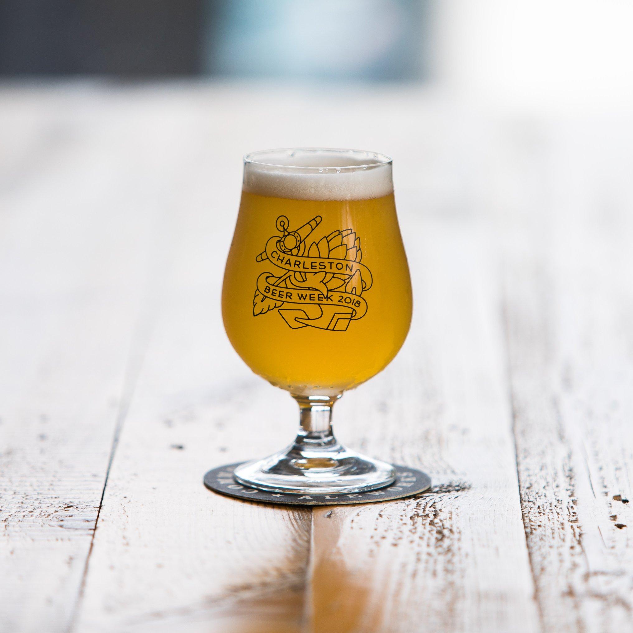 Charleston Beer Week 2018 Tulip Glass