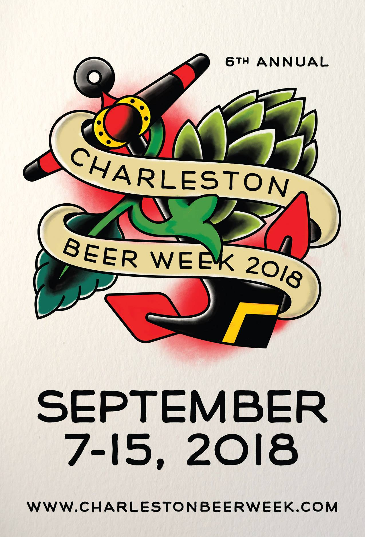 Promotional card for the 6th Annual CHS Beer Week 2018