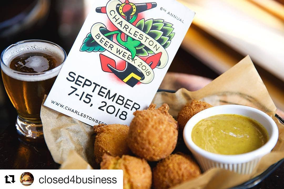 Beer and appetizers with CHS Promotional Card for 2018 by Closed4Business