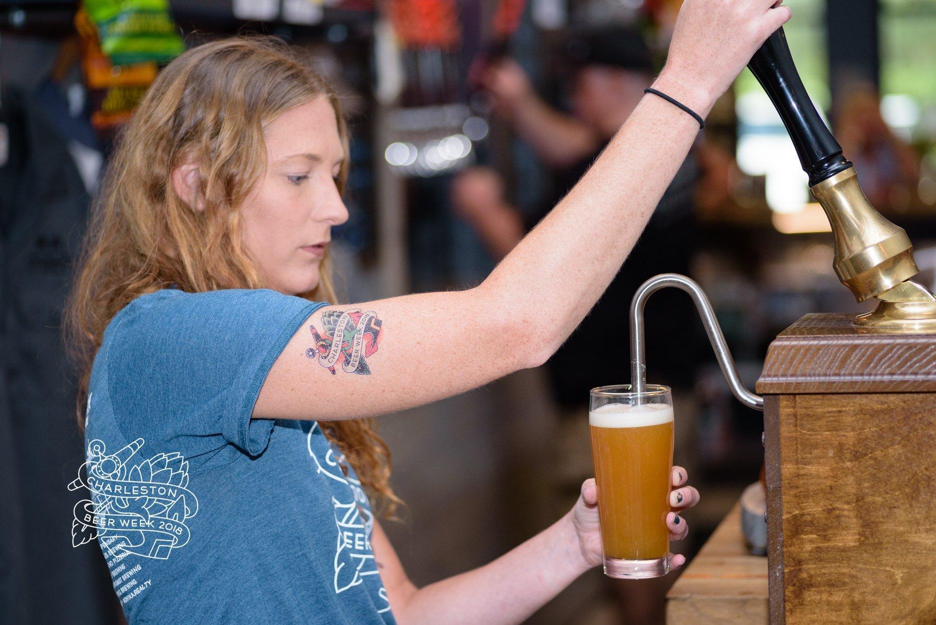 Beer pour at the 2018 Charleston Beer Week Fest