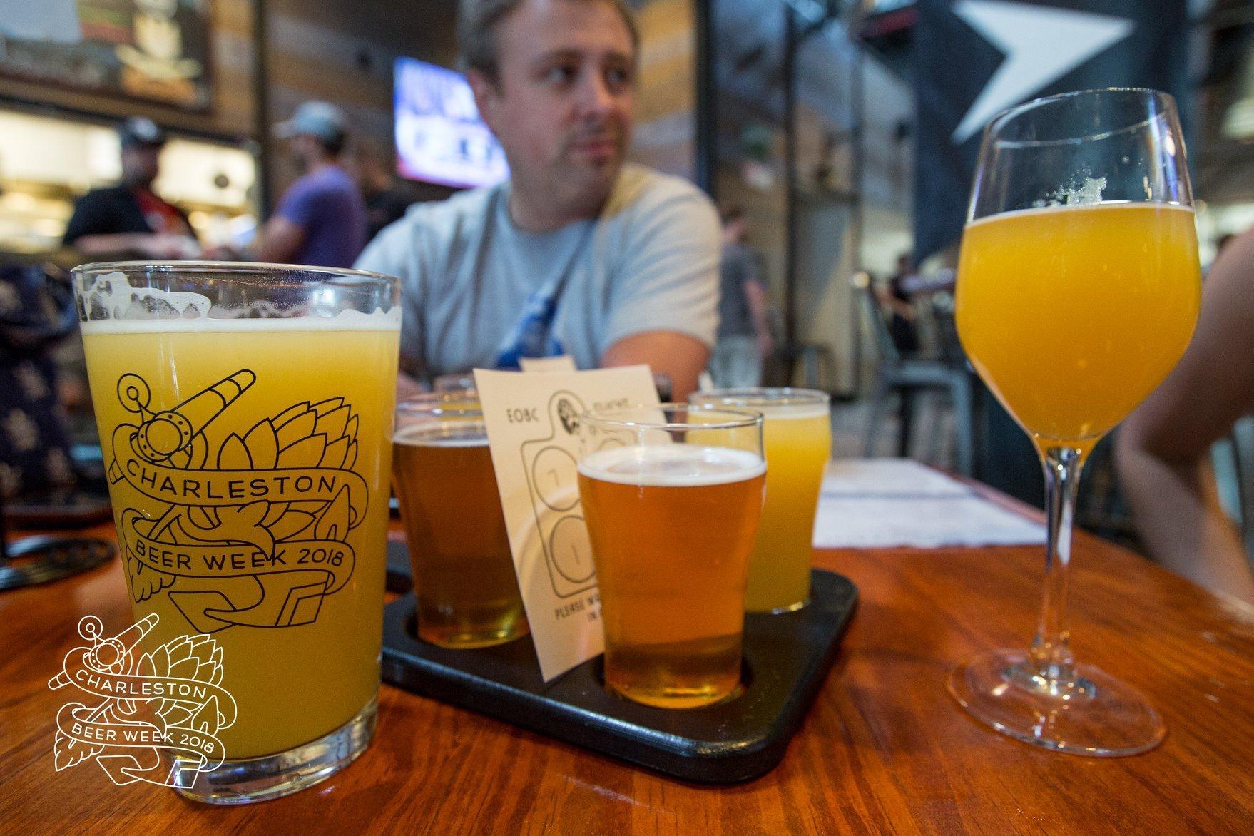 Beer tasting at the 2018 Charleston Beer Week