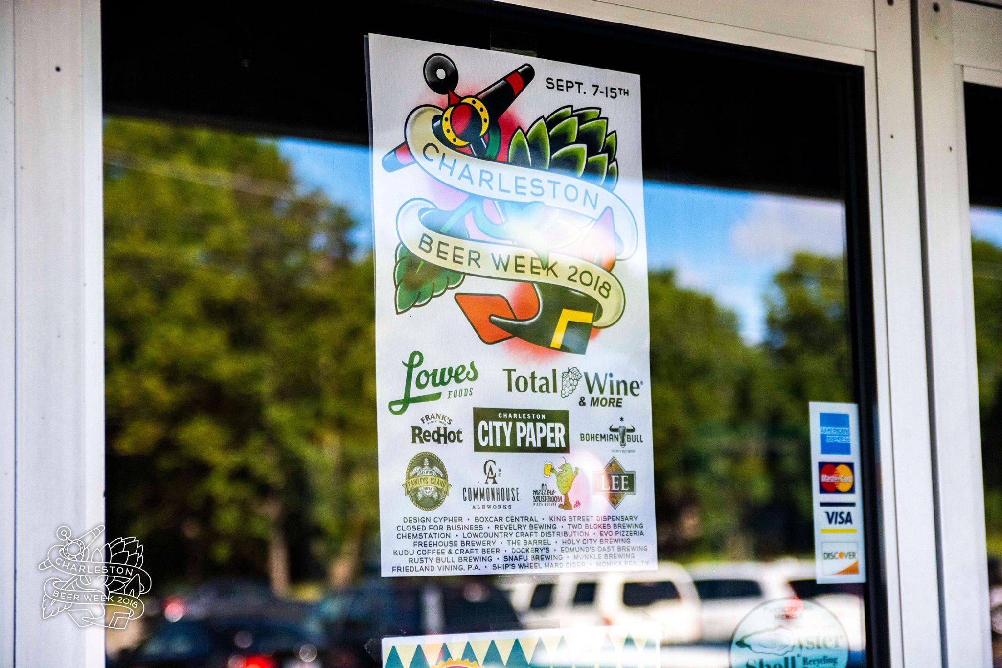 The 2018 Charleston Beer Week Sponsor Poster