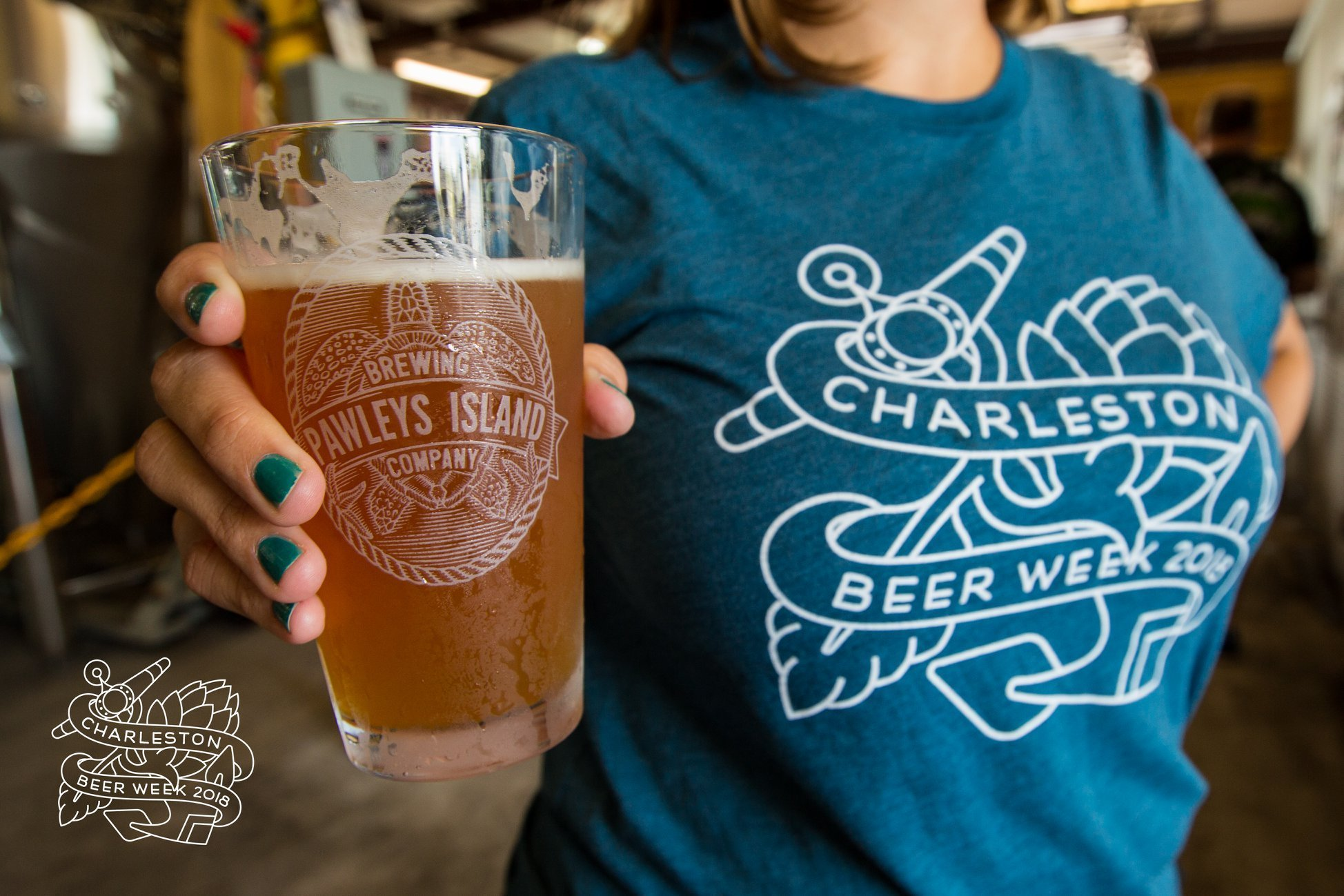 Pawleys Island Brewing Company Pint Glass at the 2018 CHS Beer Week