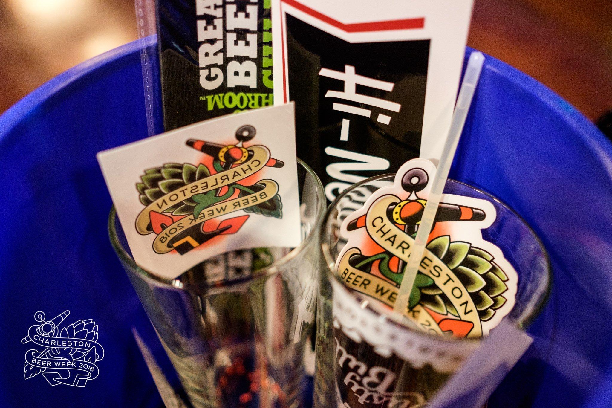 Swag bag of Charleston Beer Week goodies
