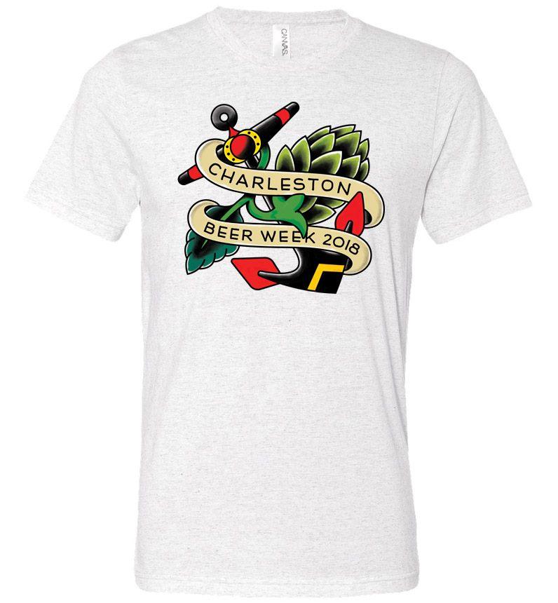 2018 Charleston Beer Week Logo on Heather Grey Shirt